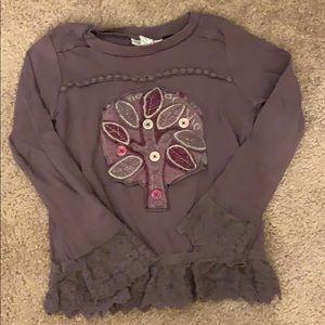 Naartjie Kids purple tree sweater, XS 3 yrs